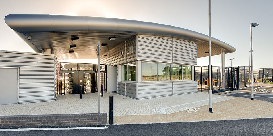 Access control, data processing center in England.